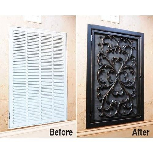 Diy decorative vent cover wilker do 39 s - Decorative wall vent ...