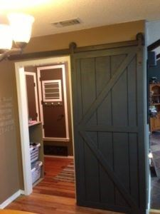 Now hang your door on and make sure everything works! & DIY Sliding Barn Door - Wilker Dou0027s