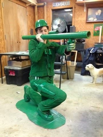 diy green army man halloween costume wilker dos
