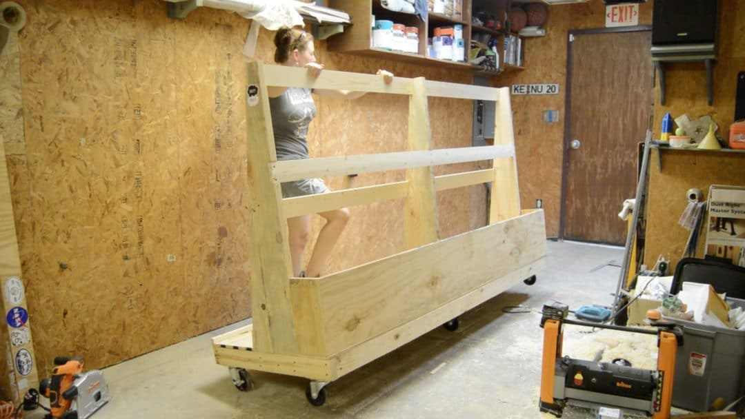 Last thing I added was a lip to the plywood section so that the plywood wonu0027t be slipping out. & DIY Rolling Lumber Rack - Wilker Dou0027s