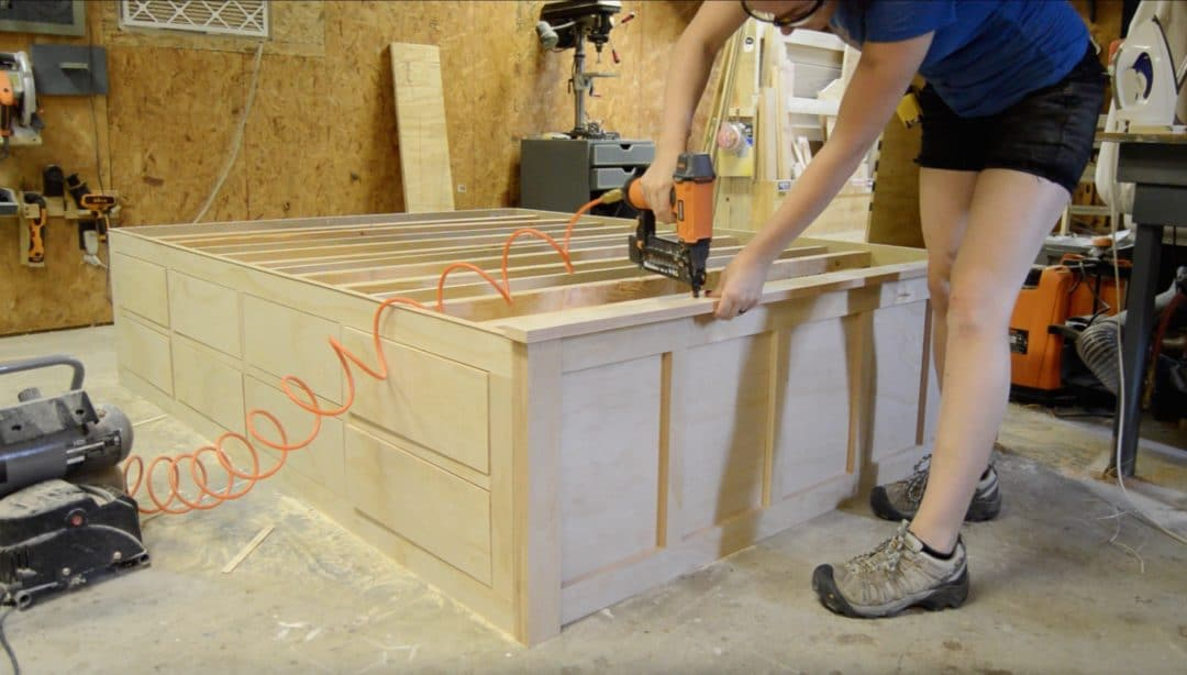 Diy Queen Bed Frame With Drawer Storage Wilker Do S