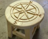 DIY Simple Step Stool with CNC Carved Top