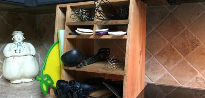 DIY Wooden Utensil Holder