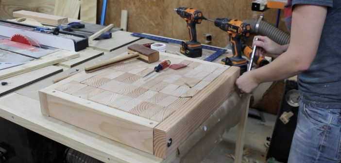 How to Build an End Grain Knife Throwing Target