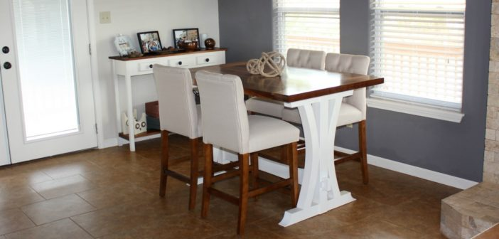 How to Make a Farmhouse Kitchen Table Part 2